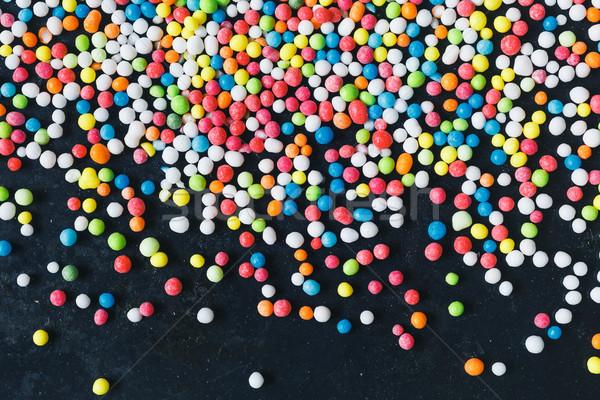 Coloré sucre sombre grunge métal Photo stock © kkolosov