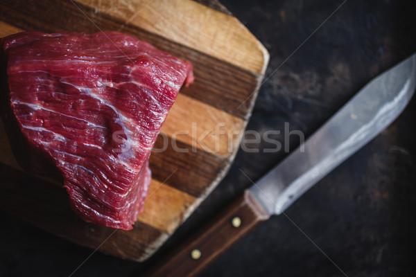 Fresco carne carne escuro cozinha Foto stock © kkolosov