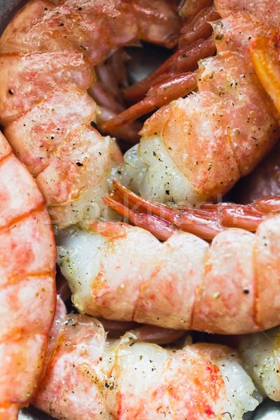 Crevettes cocktail vue groupe fraîches Photo stock © kkolosov
