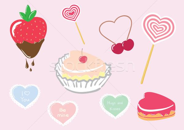 Saint valentin bonbons vecteur heureux art Photo stock © klauts