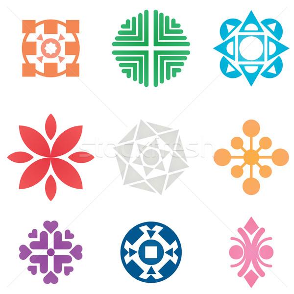 Vecteur symboles ensemble coloré icônes tous Photo stock © klauts