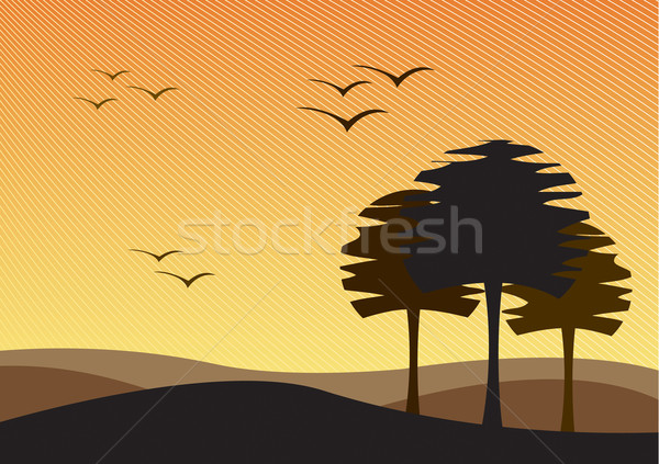 Vector Barren Wasteland Stock photo © klauts