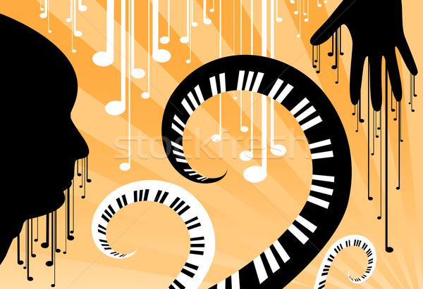 Visage musique résumé homme monde fête Photo stock © klauts