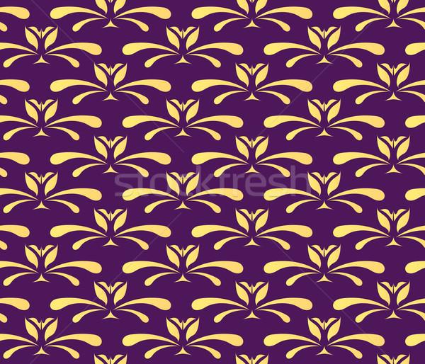 Vecteur fleur résumé nature tissu Photo stock © klauts