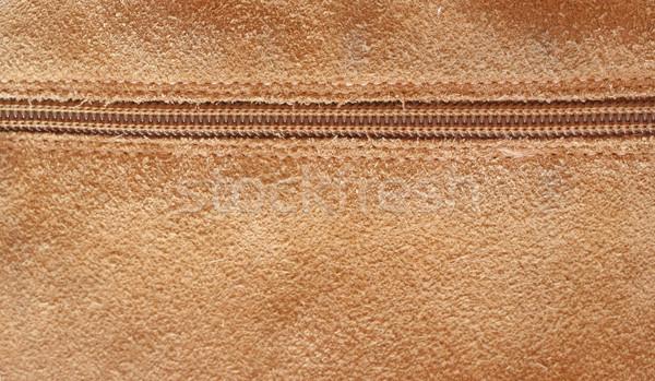 Zipper coup cuir texture mode Photo stock © klauts