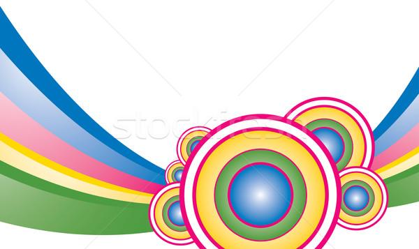 Coloré vecteur facile résumé bleu Rainbow Photo stock © klauts