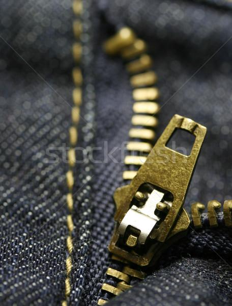 Macro zipper coup mode design Photo stock © klauts