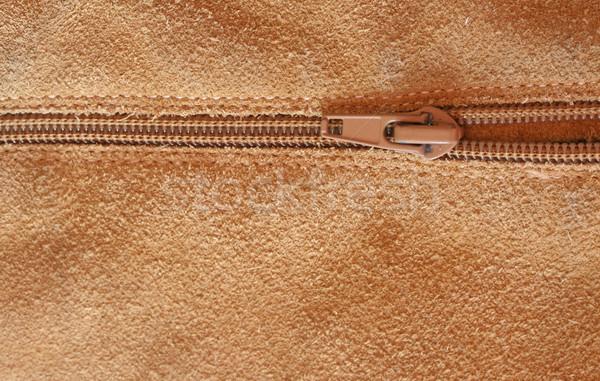 Zipper mode peau sombre cuir wallpaper Photo stock © klauts