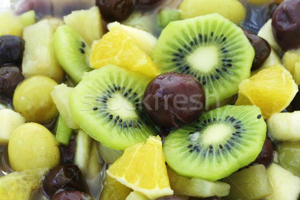 Salade de fruits macro coup délicieux orange vert Photo stock © klauts