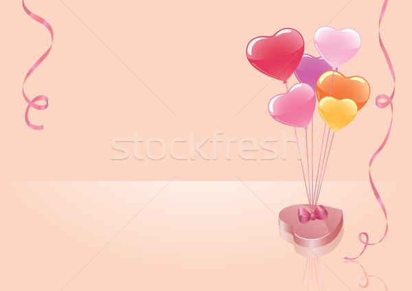 Bonbons ballons vecteur boîte coloré parfait Photo stock © klauts