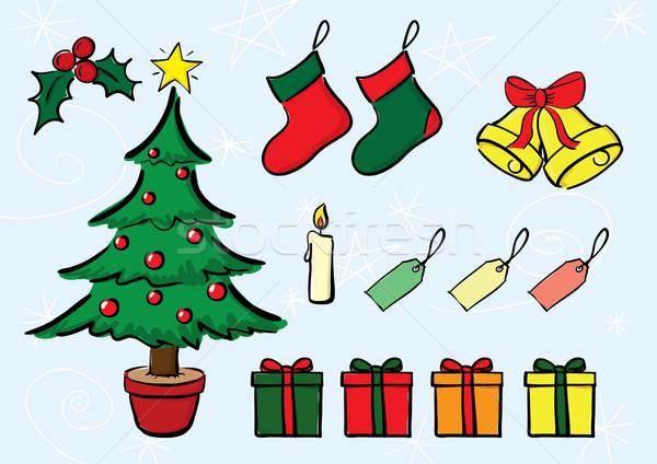 Noël vecteur séparé couches Photo stock © klauts