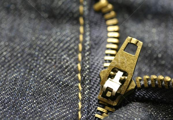 Macro zíper tiro moda projeto Foto stock © klauts