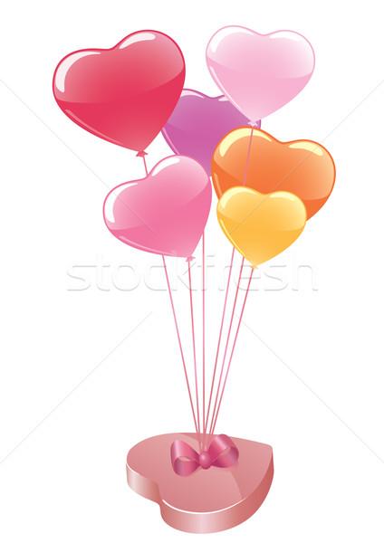Bonbons ballons vecteur boîte coloré printemps Photo stock © klauts