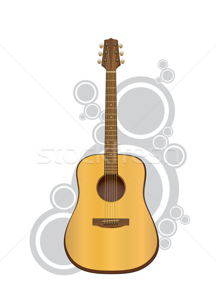 Vector acoustic guitar Stock photo © klauts
