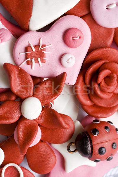 Heureux choses macro coup rose Photo stock © klauts