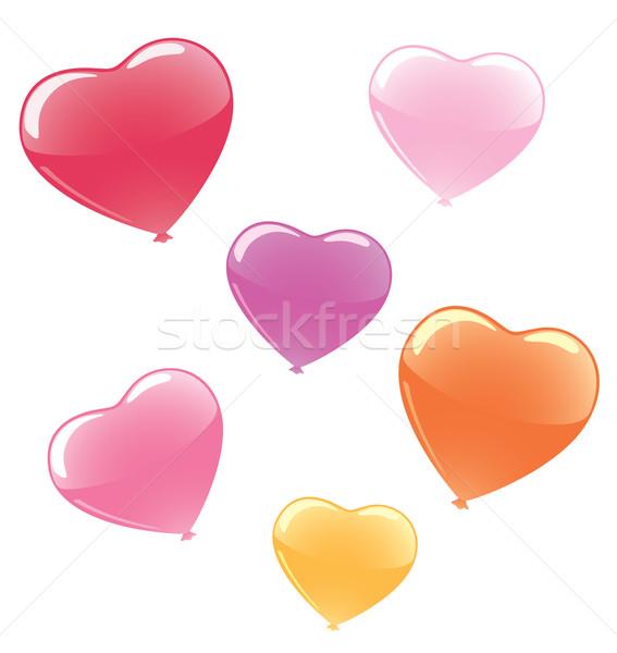 Coloré ballons vecteur coeur Photo stock © klauts