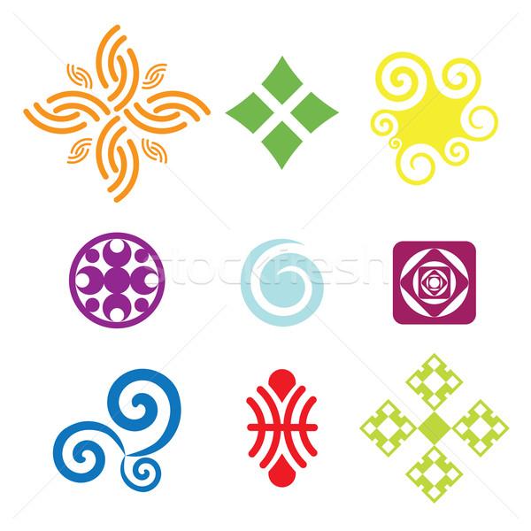 Vecteur symboles ensemble coloré icônes eau Photo stock © klauts