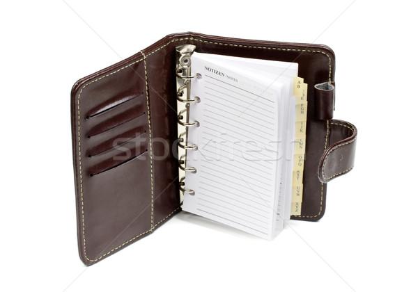 Portable cuir vide isolé blanche affaires Photo stock © klauts