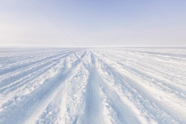 Snowy tracks Stock photo © klikk
