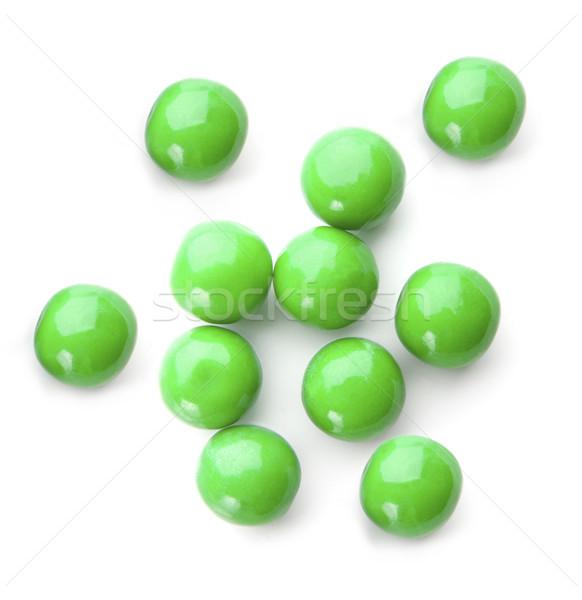 Green balls on white Stock photo © klikk