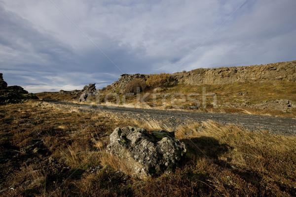 пейзаж изолированный дороги бесплодный небе природы Сток-фото © klikk