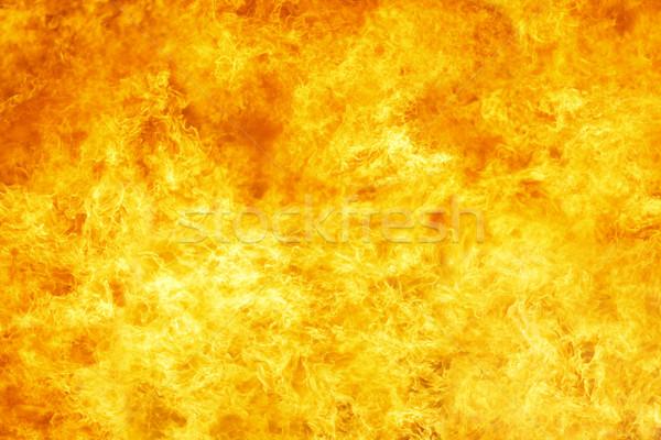 Nagy tűz forró láng citromsárga hő Stock fotó © klikk