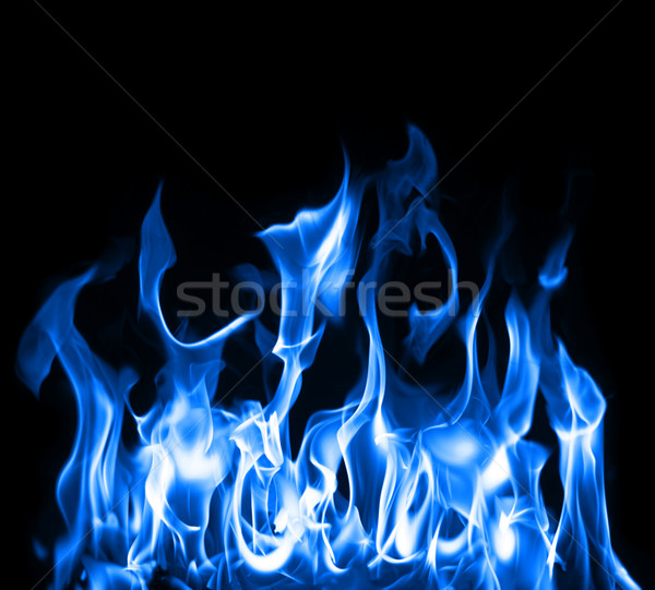 Photo stock: Bleu · flammes · belle · photo · chimiques · flamme