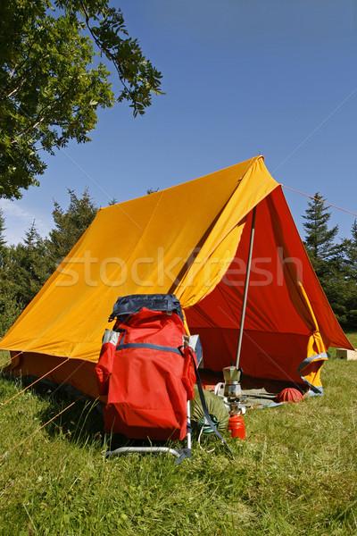 Camping plaats mooie natuurlijke heldere zomer Stockfoto © klikk