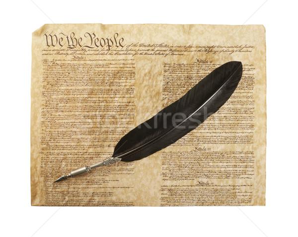 Verfassung isoliert weiß Vereinigte Staaten america Stift Stock foto © klikk