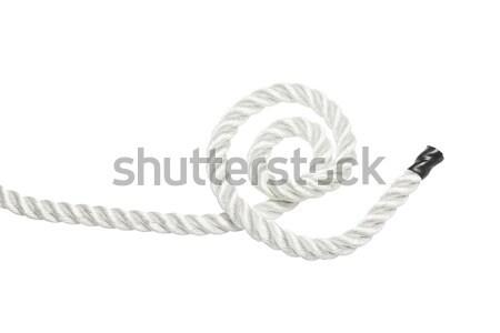 Son halat kıvrılmış güçlü yalıtılmış beyaz Stok fotoğraf © klikk