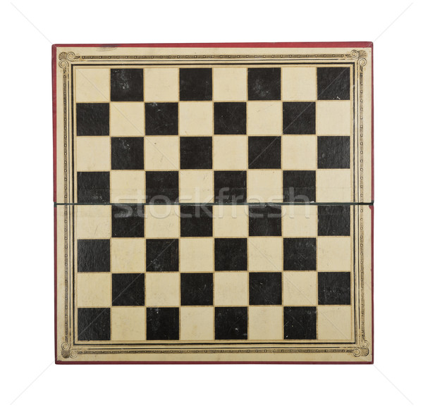 Antique chess board Stock photo © klikk