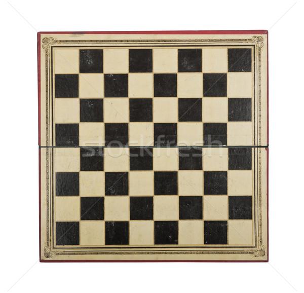 Antika satranç tahtası üst görmek aşınma gözyaşı Stok fotoğraf © klikk