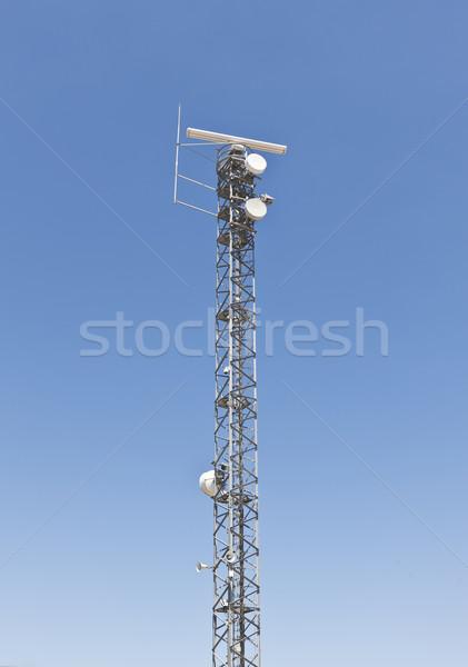 Communication tower Stock photo © klikk