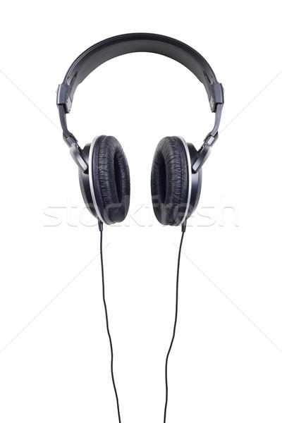 Hoofdtelefoon geïsoleerd witte hoofdtelefoon industrie geluid Stockfoto © klikk