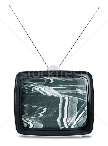 Retro TV isolated on white Stock photo © klikk