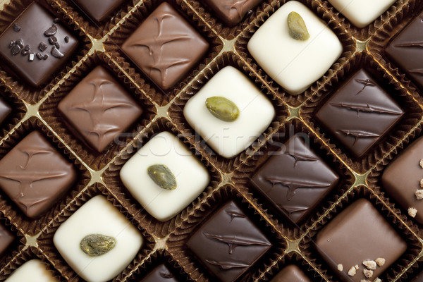 Stock photo: Box of the finest chocolate