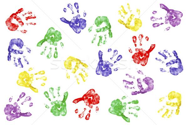 Kreatív kezek gyerekek izolált fehér kéz Stock fotó © klikk