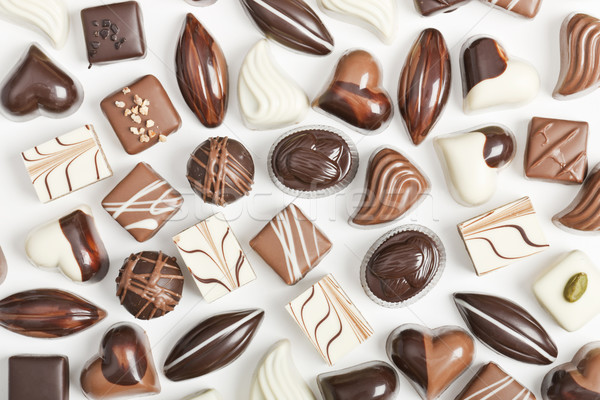 Chocolate on white background Stock photo © klikk