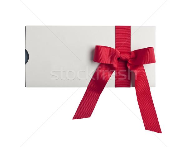 Saját terv piros ajándék szalag ünneplés Stock fotó © klikk