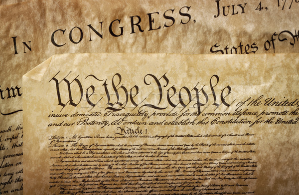 Stock photo: Close-up of the U.S. Constitution