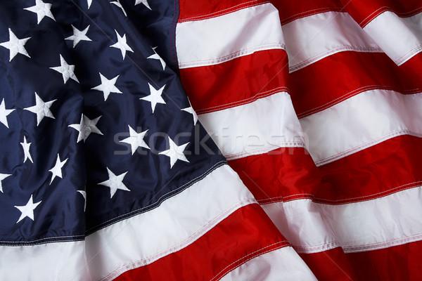 Csillagok csíkok amerikai zászló lövés háttér zászló Stock fotó © klikk