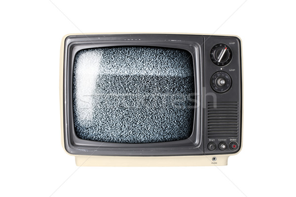 Retro TV set with static Stock photo © klikk