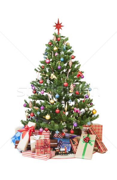 Christmas tree with presents Stock photo © klikk