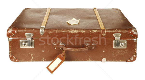 Retro suitcase isolated on white Stock photo © klikk