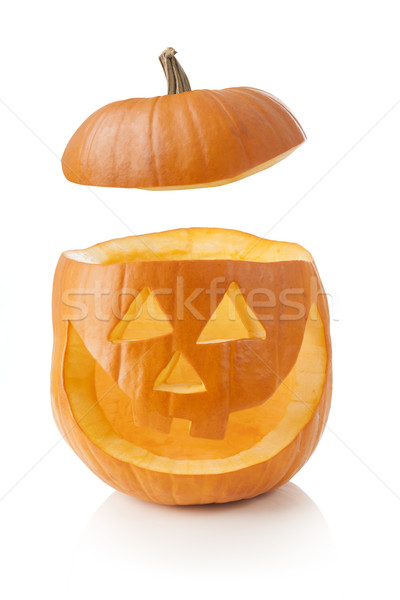 Halloween pumpkin with lid off Stock photo © klikk
