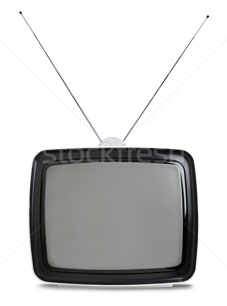 Retro tv isolado branco vintage sixties Foto stock © klikk