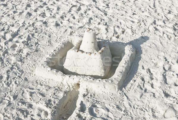 Homokvár napos tengerpart nyári szabadság modell kastély Stock fotó © klikk
