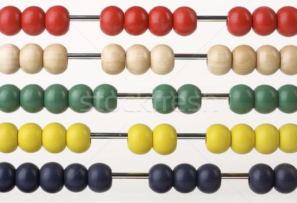 Abacus kralen gekleurd onderwijs chinese tool Stockfoto © klikk