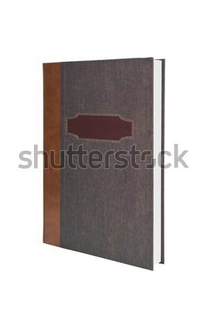 évkönyv izolált fehér saját üzenet borító Stock fotó © klikk