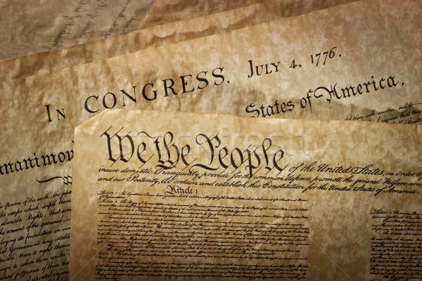 Közelkép alaptörvény Egyesült Államok Amerika törvény ír Stock fotó © klikk